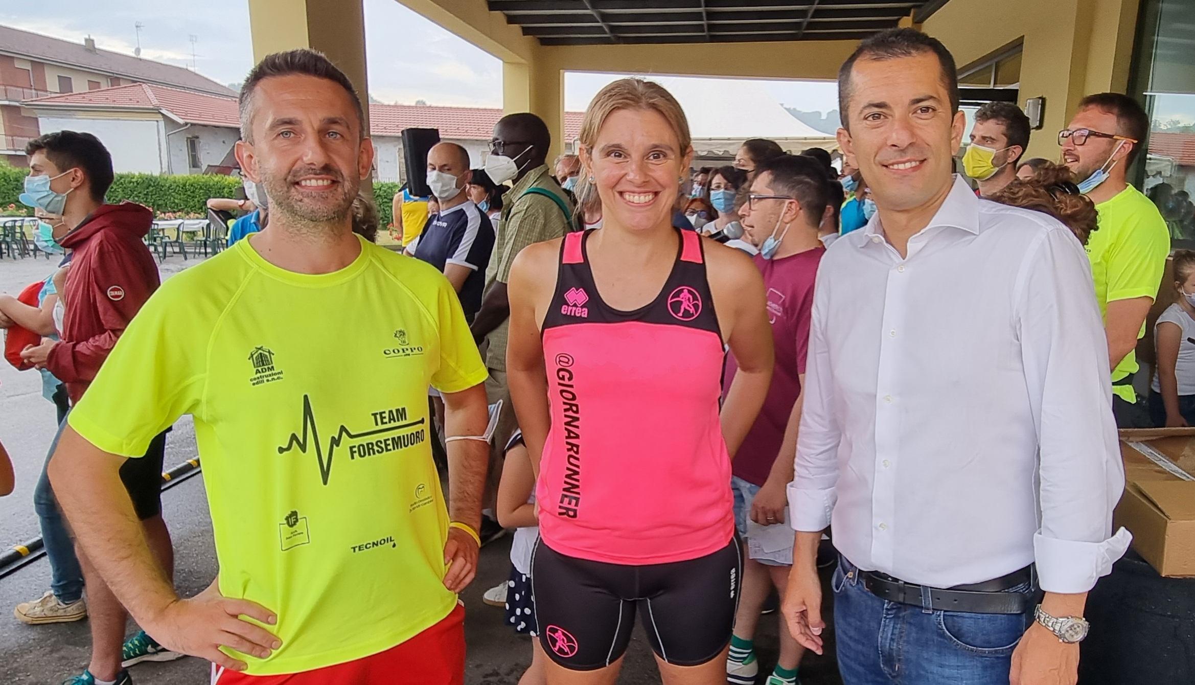 Con Ivan Ferrero e Marco Gabusi, Assessore della Regione Piemonte e amico podista
