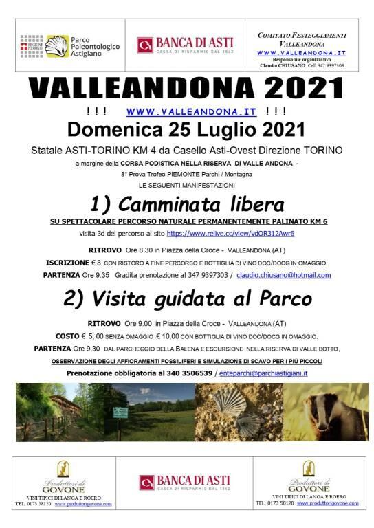 Volantino Valleandona 2021