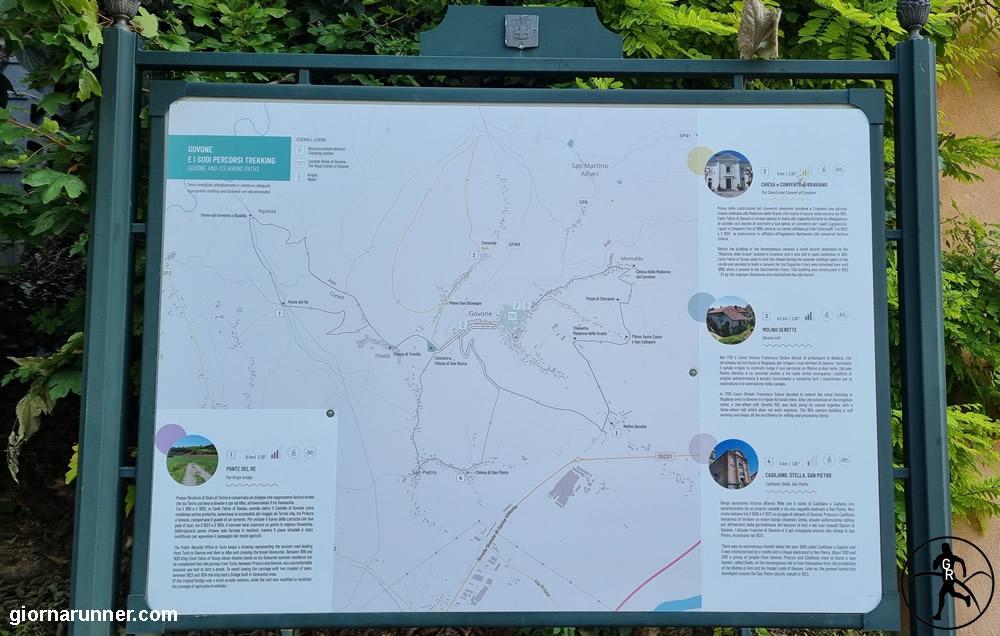Cartina percorsi Govone