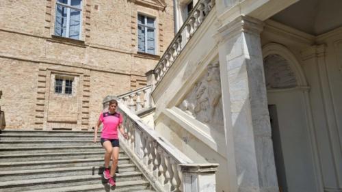 Lo scalone del Castello Reale di Govone