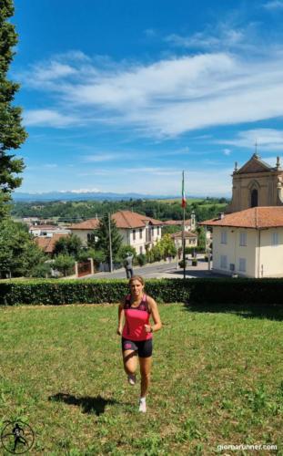 Vista sulla chiesa parrocchiale di Ferrere