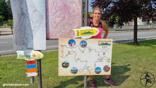Cartina dei percorsi di Ferrere