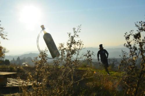 La Bottiglia Gigante del Comune a Mombercelli