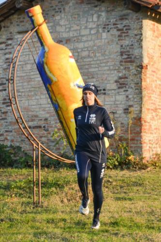 Il Casot e la bottiglia gigante della Cantina Terre Astesane a Mombercelli