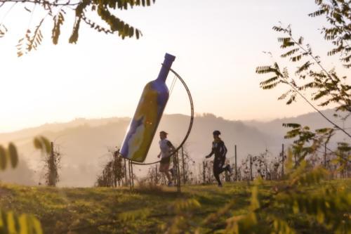 Bottiglia gigante della Cantina Terre Astesane a Mombercelli
